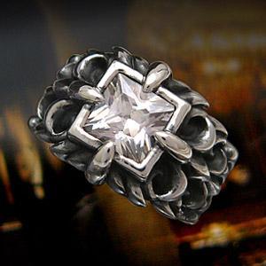 送料無料  シルバーアクセサリー シルバーリング 指輪 メンズ リング アラベスク ジルコニア r0499|2pcs