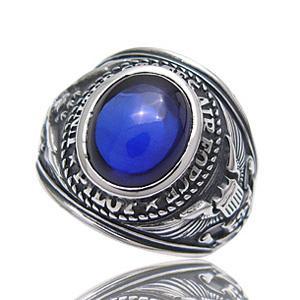 送料無料  カレッジリング メンズ リング シルバーリング 指輪 エアホース 空軍 r0510|2pcs