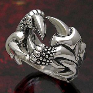 送料無料  シルバーアクセサリー メンズ リング シルバーリング 指輪 ドラゴン・龍 爪 r0514|2pcs