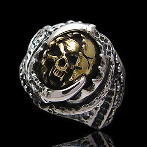 送料無料  シルバーアクセサリー シルバーリング 指輪 メンズ リング スカル 爪 r0520 2pcs