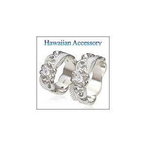 送料無料  ペアリング 指輪 ハワイアン 花・フラワー r0566-pair ペアセット ギフトBOX付き|2pcs