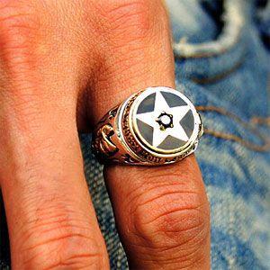 シルバーアクセサリー シルバーリング メンズ 指輪 星 スター r0609|2pcs|06