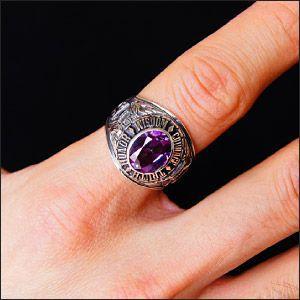 送料無料  カレッジリング シルバーリング シルバーアクセサリー 指輪 メンズ アレキサンドライト r0620|2pcs|05