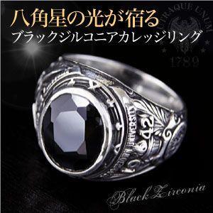 送料無料  カレッジリング シルバーアクセサリー シルバーリング メンズ 指輪 エンブレム・紋章 r0634 2pcs