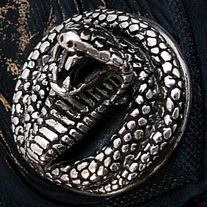 送料無料  シルバーアクセサリー 財布 サイフ コンチョ シルバー925 蛇 so0404|2pcs