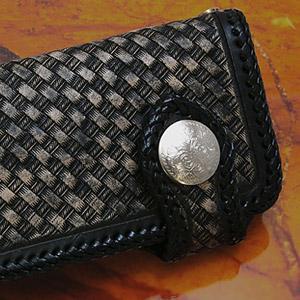 送料無料  財布 サイフ 牛革 カービング バイカーズ ブラック 黒 長財布 ウォレット so0430 2pcs
