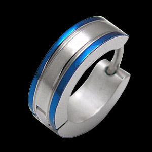 メール便なら送料無料  ステンレスアクセサリー ピアス ブルー・青色 spi0044 バラ売り 2pcs