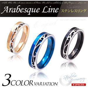 メール便なら送料無料  ステンレスリング 指輪 メンズ レディース ブルー ピンクゴールド ブラック sr0132|2pcs