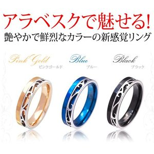 メール便なら送料無料  ステンレスリング 指輪 メンズ レディース ブルー ピンクゴールド ブラック sr0132|2pcs|02