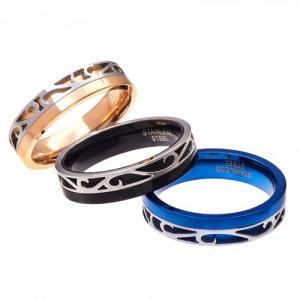 メール便なら送料無料  ステンレスリング 指輪 メンズ レディース ブルー ピンクゴールド ブラック sr0132|2pcs|04