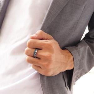 メール便なら送料無料  ステンレスリング 指輪 メンズ レディース ブルー ピンクゴールド ブラック sr0132|2pcs|05