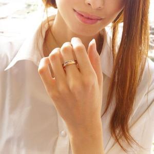メール便なら送料無料  ステンレスリング 指輪 メンズ レディース ブルー ピンクゴールド ブラック sr0132|2pcs|06