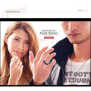 ペアリング ステンレス ハート ブラック ピンク ジルコニア sr0133-pair BOX付きペアセット|2pcs|06