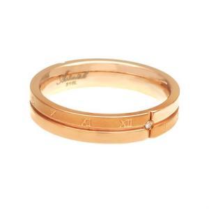 \送料無料!/ペアリング ステンレス 指輪 ダイヤモンド ローマ数字 クロス ピンクゴールド sr0145-pair BOX付きペアセット|2pcs|04
