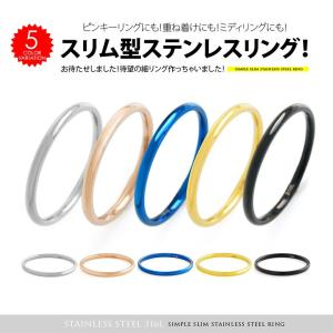 メール便なら送料無料 スリム 指輪 sr0152 ステンレス リング メンズ レディース ペアリングにもお勧め|2pcs