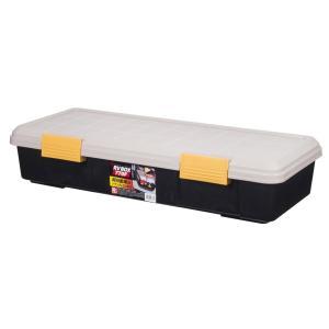 アイリスオーヤマ ボックス RVBOX 770F カーキ/ブラック 幅77×奥行32×高さ15.5cmの商品画像|ナビ