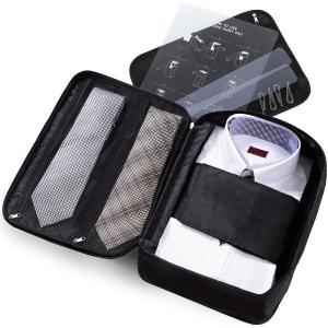 Le sourire [出張時の着替えをオールインワン] ネクタイ ワイシャツケース yシャツ ガーメント ブラックの商品画像|ナビ
