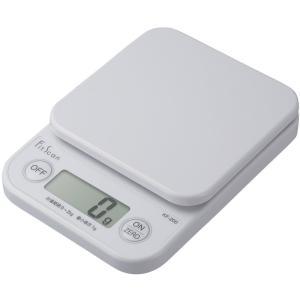 タニタ はかり スケール 料理 2kg 1g デジタル ホワイト KF-200 WHの商品画像|ナビ