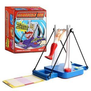 Whatsko 大車輪てつぼうくん 体操マシン玩具 親子ゲーム 知的開発玩具 水平バーの王子 ジャイアントスイング 3-dia