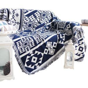TMVOK 北欧風 マルチカバー ソファカバー おしゃれ ブランケットフリンジ付き 綿 2人掛け 3人掛け カウチ ベッドカバー 毛布 ネイティブ カーペット テーブルク|3-dia
