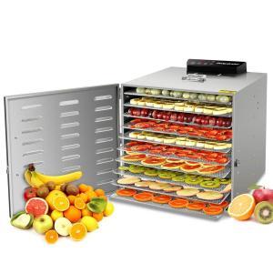 Hoomya 10層食品乾燥機 ドライフルーツ 智能温度制御 LCDタッチパネル 熱風循環システム 食品グレード304 ステンレス鋼 業務用 家庭用野菜ドライヤー(日本語説明|3-dia