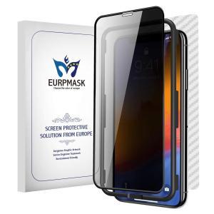 EURPMASK iPhone XR 全面ガラスフィルム【覗き見防止 昇級版ラウンドエッジ 気泡0】...