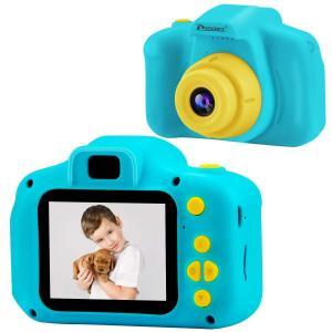 PROGRACE トイカメラ 子供用 デジタルカメラ 写真 動画 連写 タイマー撮影 2.0インチIPS画面 一眼レフ キッズカメラ 子供用カメラ ミニカメラ 子供プレゼント 日の画像