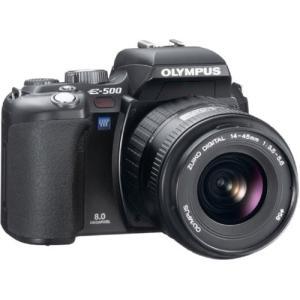 OLYMPUS デジタル一眼レフカメラ E-500 ブラック レンズセット  【メーカー名】 オリン...