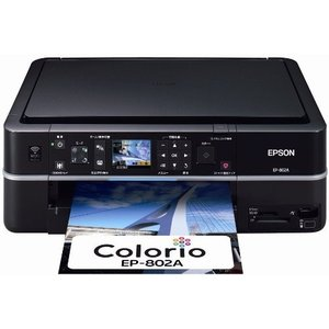 EPSON Colorio インクジェット複合機 EP-802A 有線・無線LAN標準搭載 2.5型|3-sense