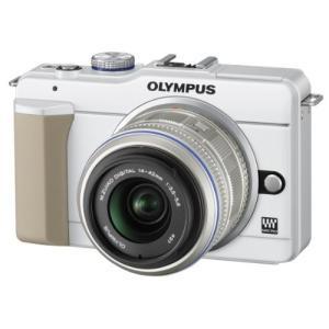 OLYMPUS ミラーレス一眼 E-PL1s レンズキット ホワイト E-PL1s LKIT WHT...