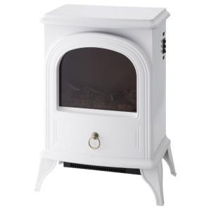 暖炉型ファンヒーターNostalgie ホワイト CH-1331WH 3-sense