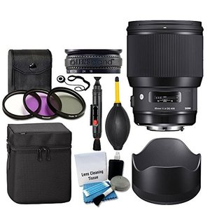 Sigma 85?mm f/1.4?DG HSM Artレンズfor Canon EF + 3?Pi...