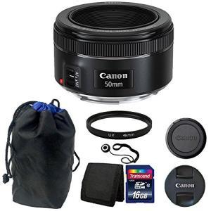 Canon EF 50?mm f / 1.8?STMレンズwithポーチ+ 16?GB Topアクセ...