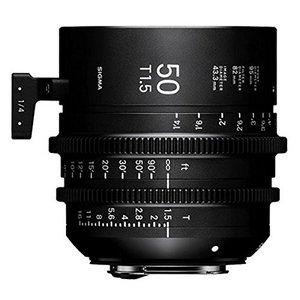 Sigma t1.5?Cine 50?mmフルフレームHigh Speed PrimeレンズとCan...