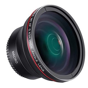 Neewer 58mm 0.43x HD 魚眼広角レンズ マクロクローズアップ部分付き  【メーカー...