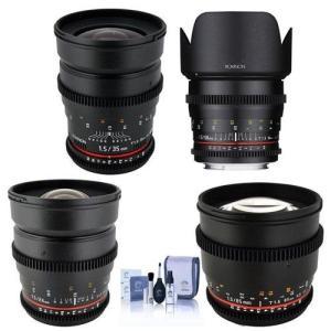 (ロキノン) Rokinon T1.5シネレンズ4点キット Canon EFマウント対応?24mm ...