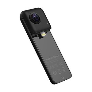 Insta360 Nano S Black 360度カメラ 4Kビデオ iPhone X/8/7/6...