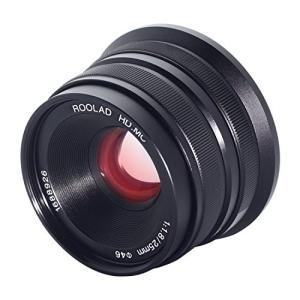 roolad 25?mm F / 1.8?Large絞り手動プライム固定レンズAPS - C for...