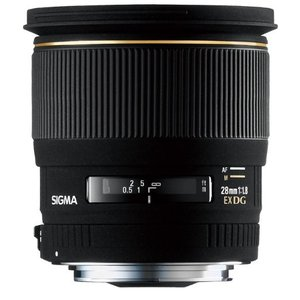 (新品未使用)SIGMA 単焦点広角レンズ 28mm F1.8 EX DG ASPHERICAL MACRO ニコン用 フル|3-sense