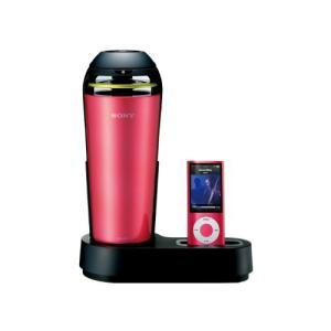 (新品未使用)SONY iPod/iPhone用ドックスピーカー 車載用シガー電源対応 ピンク SRS-V50|3-sense