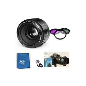 (新品未使用) Yongnuo EF 50mm F1.8標準プライムレンズキット Canon Reb...