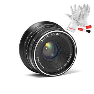 (新品未使用)7職人25?mm f1.8手動フォーカスプライム固定レンズfor OlympusとPa...