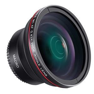 (新品未使用) Neewer 58mm 0.43x HD 魚眼広角レンズ マクロクローズアップ部分付...