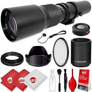 (新品未使用)Opteka 500?mm / 1000?mm F / 8手動望遠レンズfor Nikon d5、DF , d4?, d4s|3-sense