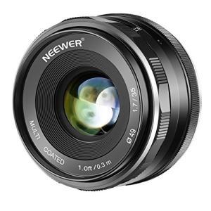 (新品未使用) Neewer 35mm F/1.7大口径HD MC手動式固定レンズAPS-C Can...