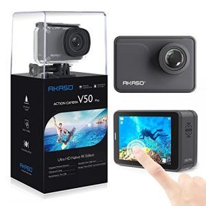 (新品未使用)AKASO V50 Proネイティブ4K / 30fps EISタッチスクリーン付き20MP WiFiアク|3-sense