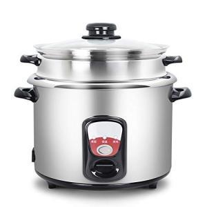 (新品未使用) 電気炊飯器,ホーム伝統的なヴィンテージ 304 ステンレス鋼内部米炊飯器 5 L リ...