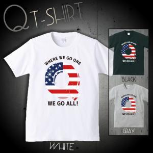 Tシャツ メンズ 半袖 ユニセックス Q ANON アノン トランプ 政権 アメリカ 組織 陰謀論 米国 おもしろTシャツ Uネック プリントTシャツ 301-shop