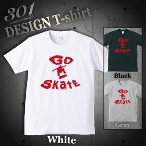 Tシャツ 半袖 メンズ 2019 新作 UNISEX GO SKATE Skateboard SK8 スケボー ニューヨーク ブルックリン ストリートクルーネック Uネック プリントTシャツ|301-shop