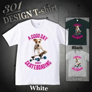Tシャツ 半袖 メンズ 2019 新作 UNISEX Skateboard スケボー スケボー犬 Skate Dog NY ニューヨーク ストリートクルーネック Uネック プリントTシャツ|301-shop